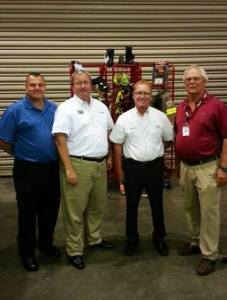 Fire-Dex with Ten-8 Fire Equipment, Inc. From left to right: Jeff Amlong (Ten-8), Allen Rom (Fire-Dex), Mark Jones (Ten-8) and Lamar White (Ten-8).