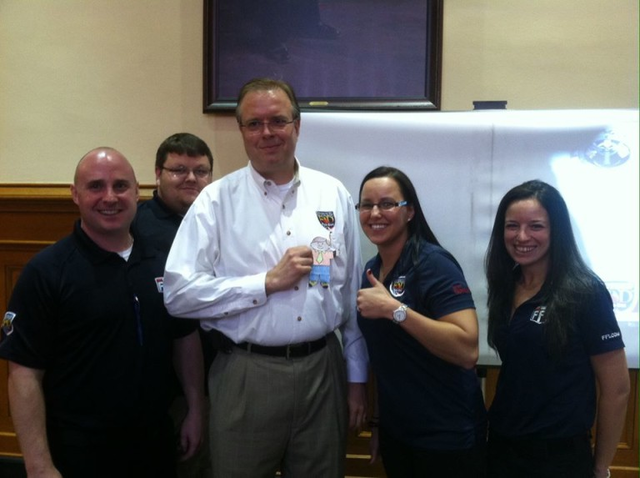 Jeff with the Fire-Dex Sales Team and Flat Stanley